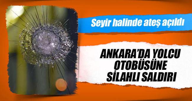 Başkent'te yolcu otobüsüne silahlı saldırı: 4 yaralı