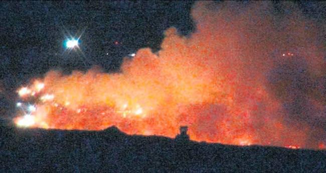 Harmandalı'da yine yangın yine korku