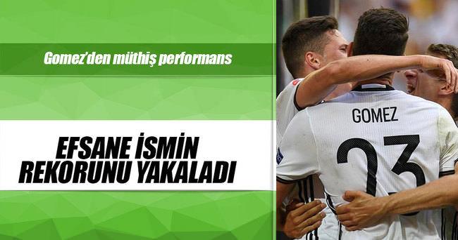 Mario Gomez, Klinsmann'ın gol rekorunu yakaladı