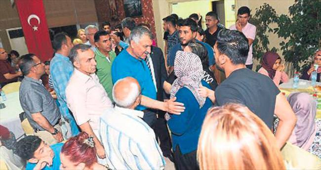 Şehit aileleri iftarda Seyhan'da buluştu
