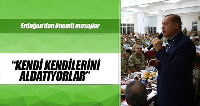 Erdoğan: Bu mücadelede yılmak yok