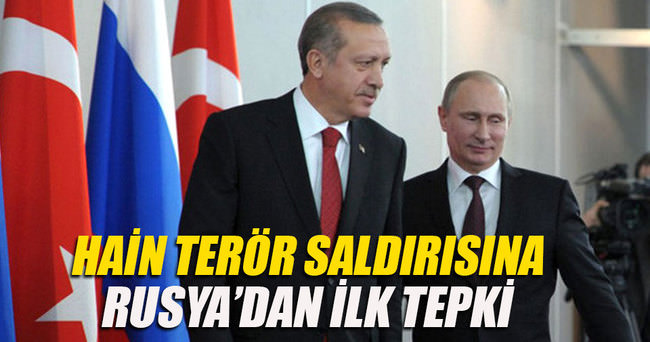 Hain saldırıya Rusya'dan tepki