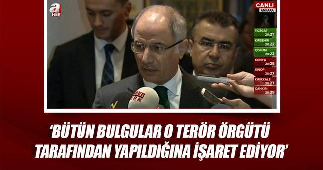 """Bakan Ala: """"Bütün bulgular DAEŞ terör örgütü tarafından yapıldığına işaret ediyor"""""""