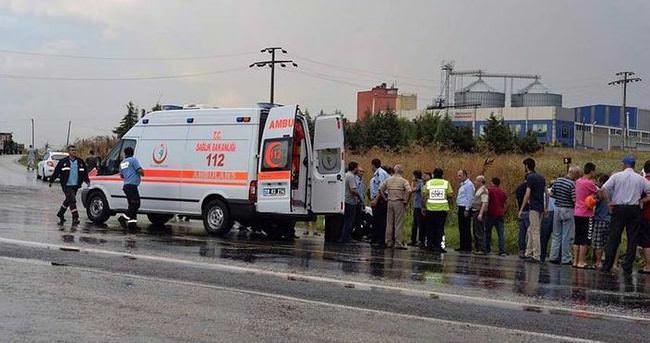 Tekirdağ'da trafik kazası:16 yaralı