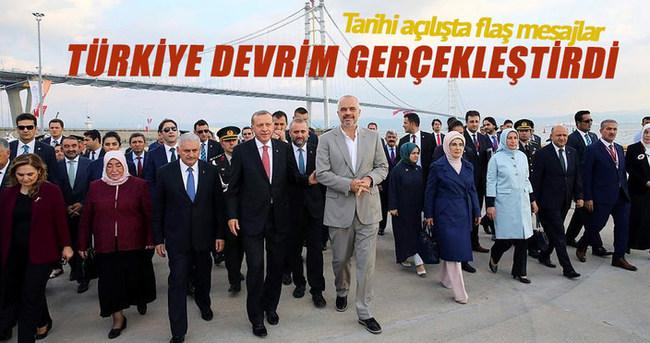 Cumhurbaşkanı Erdoğan: Türkiye ulaşım devrimi gerçekleştirdi
