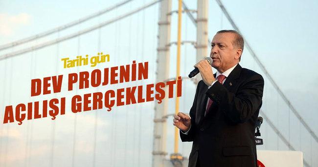 Osmangazi Köprüsü'nün açılışı gerçekleşti