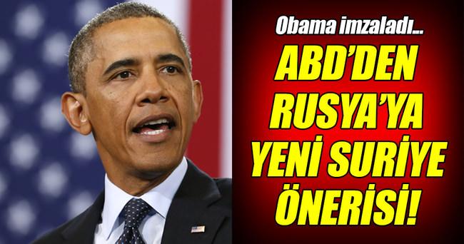 ABD'den Rusya'ya Suriye'yle ilgili yeni öneri!
