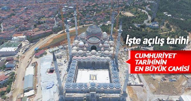 Çamlıca Camisi'nde ilk namaz bu akşam