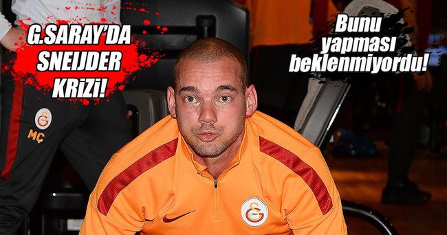 Galatasaray'da Sneijder krizi!