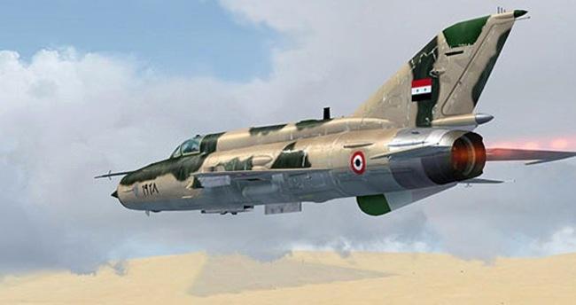 Şam'da savaş uçağı düştü
