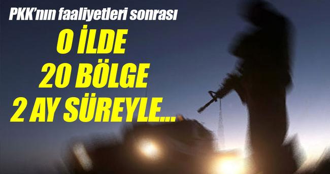 Tunceli'de 20 alan geçici 'özel güvenlik bölgesi' ilan edildi!
