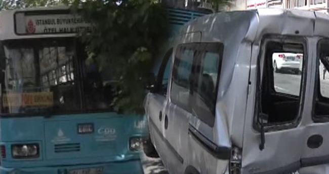 İstanbul'da halk otobüsü kaza yaptı!
