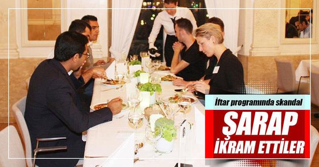 Cem Özdemir partisinden yeni skandal! İftarda şarap ikram ettiler