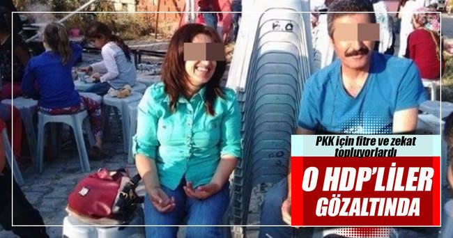 PKK'ya fitre ve zekat toplayan HDP'lilere gözaltı