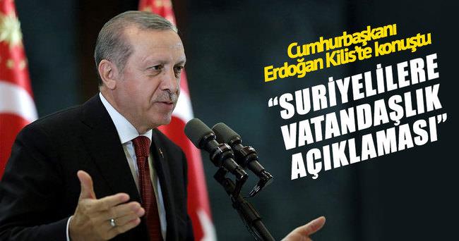 Cumhurbaşkanı Erdoğan: Suriyeli kardeşlerimize vatandaşlık imkanını vereceğiz.