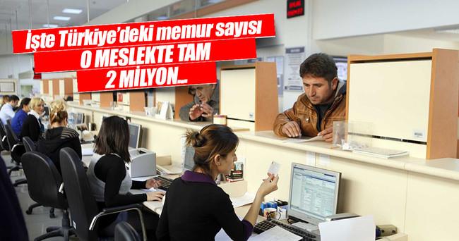 Türkiye'de kaç memur var?