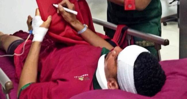 Manchester United'lı Smalling hastanelik oldu