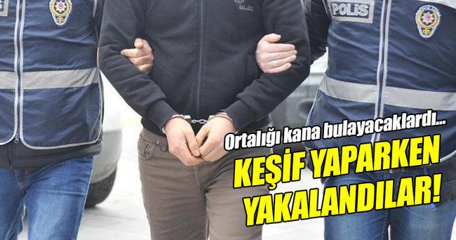 Eylem hazırlığındaki 3 terörist yakalandı!