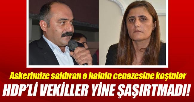 HDP milletvekilleri teröristin cenaze töreninde!