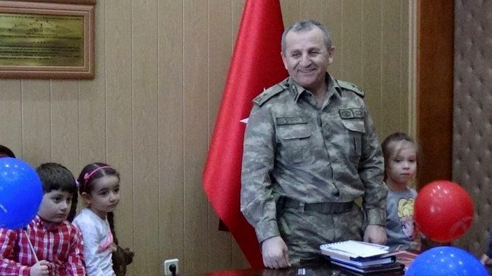 Giresun'da, bölgedeki karakollara bayramlaşmaya giden Jandarma Bölge Komutanı Tuğgeneral Mustafa Doğru