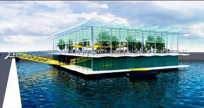 Hollanda'da yüzen mandıra projesi