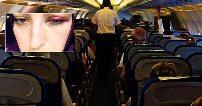 Kadın yolcuya yumruk attı!