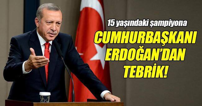 Erdoğan'dan 'Altın Kız' Ayşe Begüm'e tebrik telefonu!