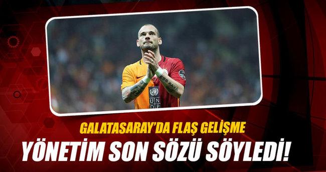 Galatasaray'dan Wesley Sneijder'e rest!