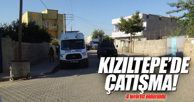 Mardin Kızıltepe'de çatışma! 4 terörist öldürüldü