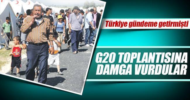 G20 toplantısına 'göçmen damgası'