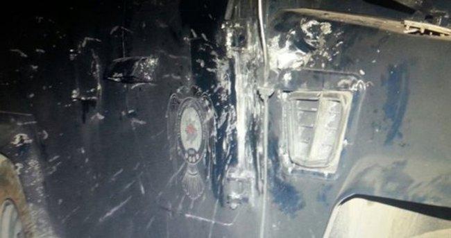 Giresun'da polis aracına saldırı: 1 polis yaralı
