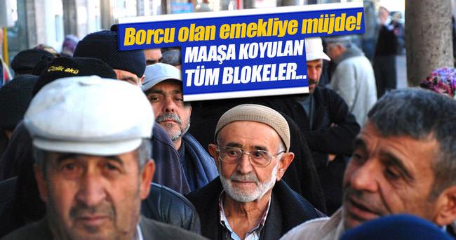 Emekli maaşı blokesine mahkeme freni