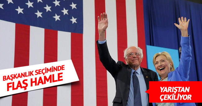 Sanders, yarıştan çekildiğini ve Clinton'a destek vereceğini açıkladı