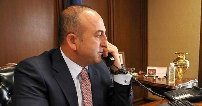 Çavuşoğlu, Fransız mevkidaşı Ayrault ile telefonda görüştü