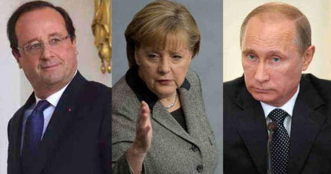 Hollande, Merkel ve Putin, Ukrayna krizini görüştü