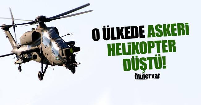 Askeri helikopter düştü! Ölüler var