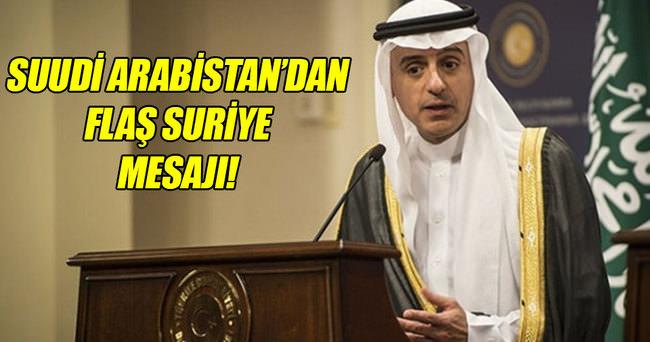 Suudi Arabistan'dan 'Esadsız yeni Suriye' mesajı