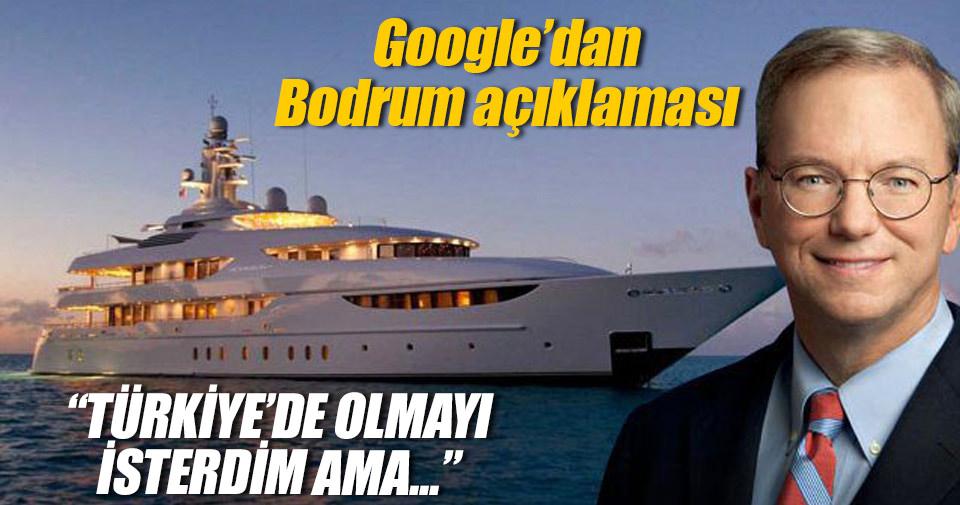 Google'ın patronunundan Bodrum açıklaması