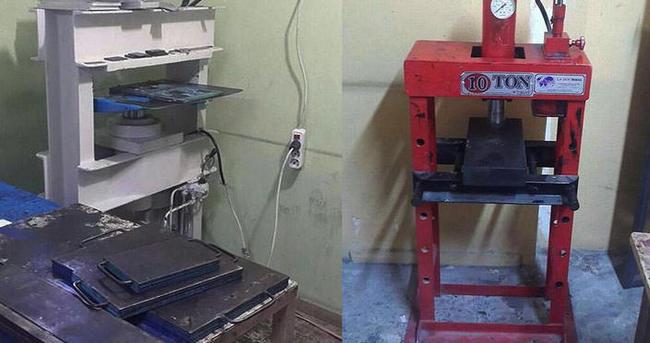 Adana'da sahte plaka basan 2 kişi yakalandı