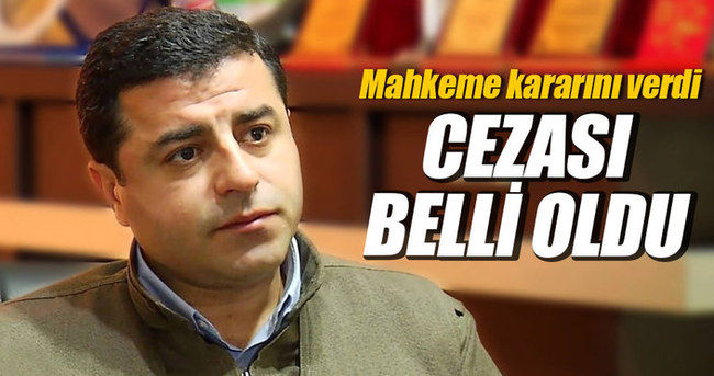 Demirtaş Cumhurbaşkanı Erdoğan'a tazminat vermeye mahkum edildi