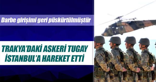 Vali Şahin: Trakya'daki tugay İstanbul'a geliyor