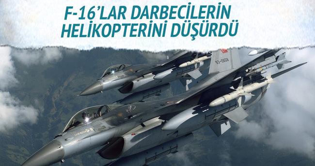 F-16'lar darbecilerin helikopterini düşürdü