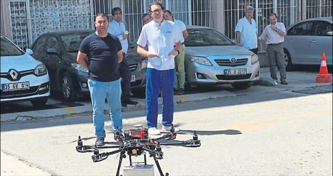 Tüp kanlar 'drone'la taşındı
