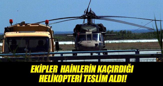 Ekipler kaçırılan helikopter için Dedeağaç'ta