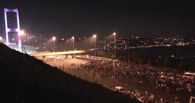 Olay gecesi Boğaziçi Köprüsü'nde yaşananlar