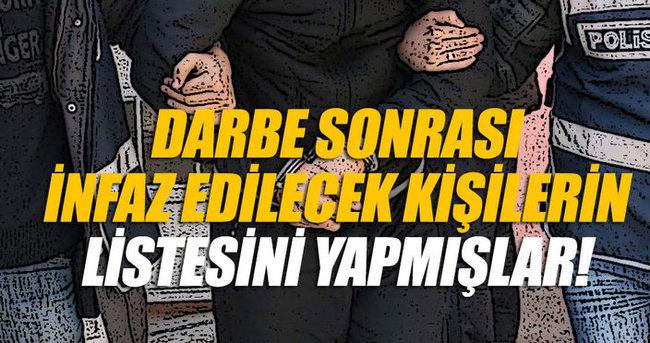 Adana'da tutuklanan savcıların evinde darbe sonrası 'infaz edilecekler' listesi bulundu