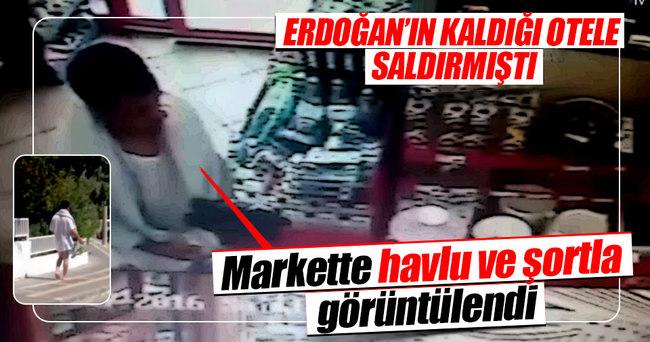 Erdoğan'ın kaldığı otele saldıran darbeci markette görüntülendi