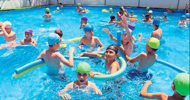 Çocuklar artık portatİf havuzlarda serİnleyecek
