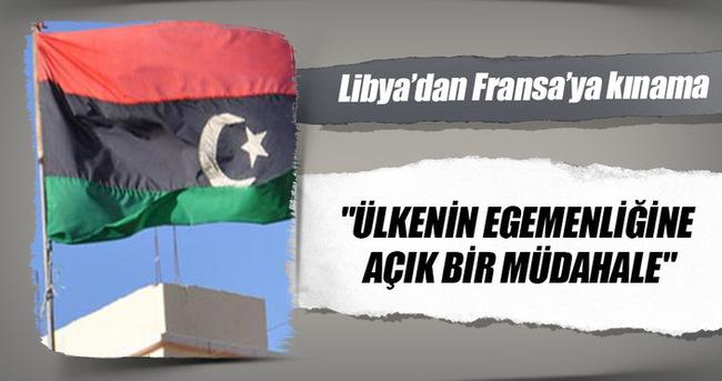 Libya'dan Fransa'ya kınama