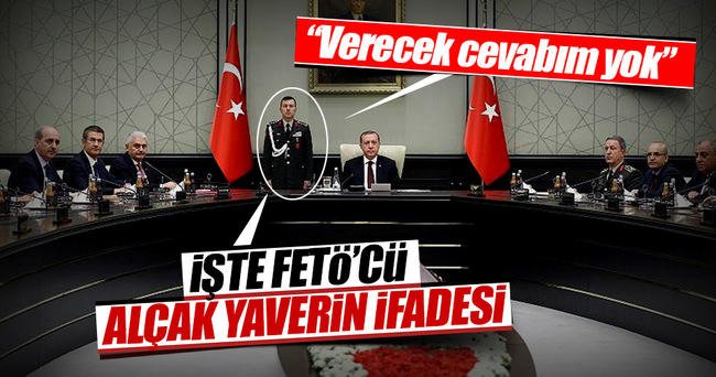 İşte Erdoğan'ın başyaverinin ifadesi